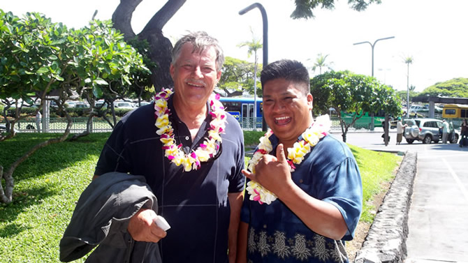Rod Hadrian and Julio Nicolas arriving at the Kona Airport Nov. 2nd, 2009