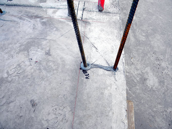 Two # 4's rebar's are side by side, all rebar placement is usually spelled out by the engineer on each project.