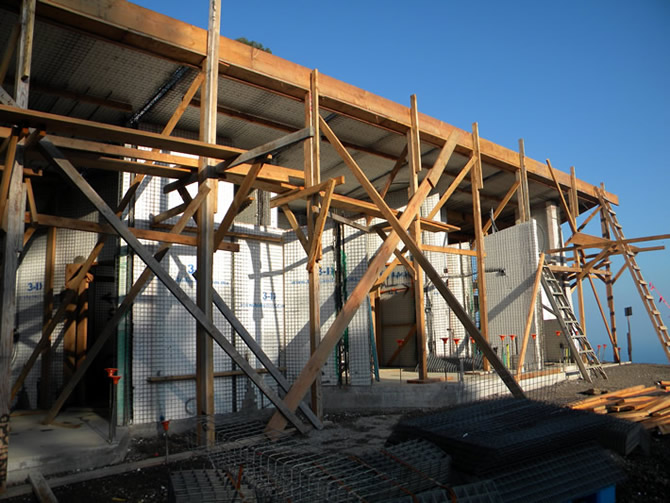 The side view of building #3 or roof #3, there are some window walls not up yet on this side of the building, I will show later.
